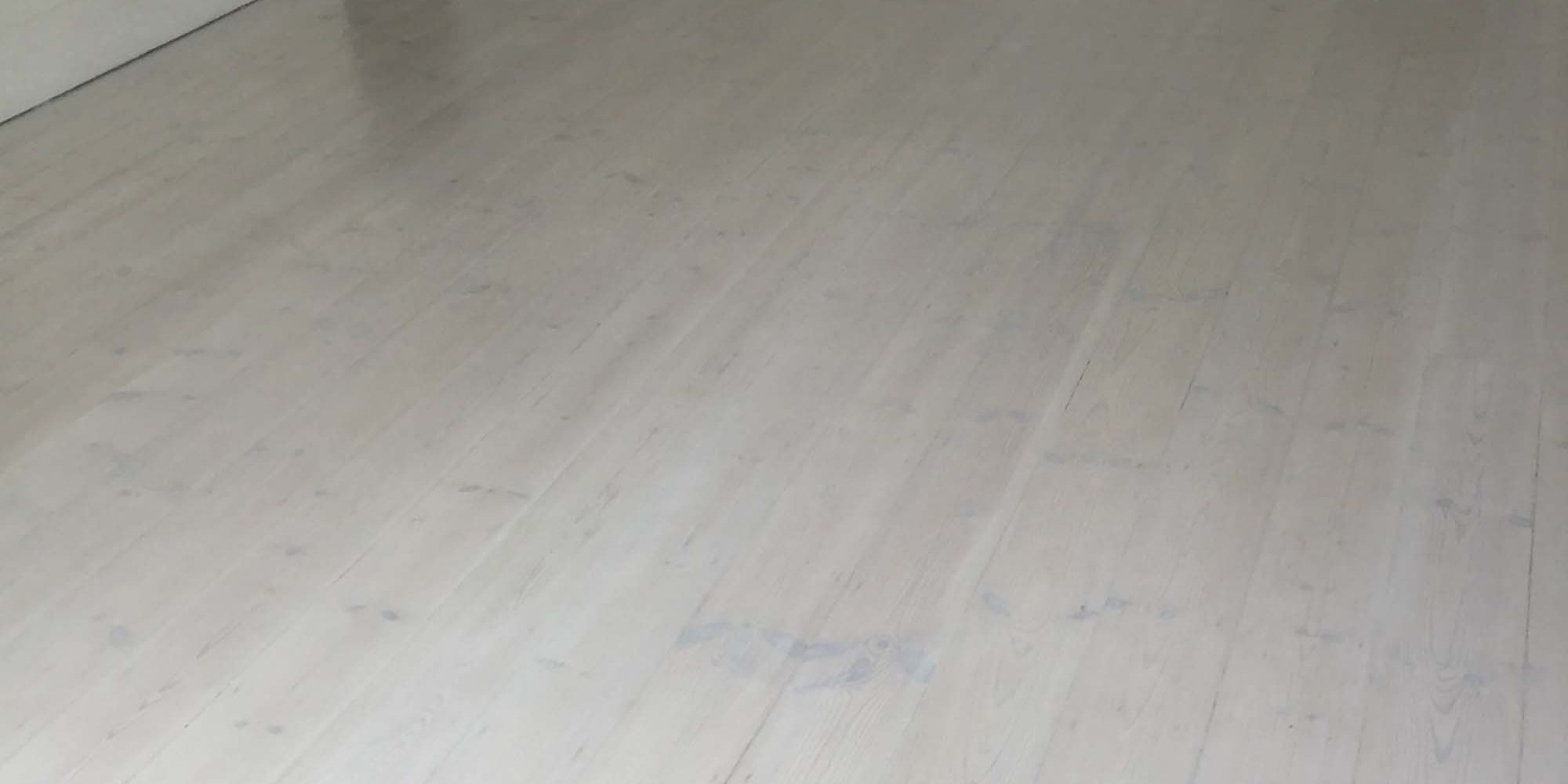 White wash floors
